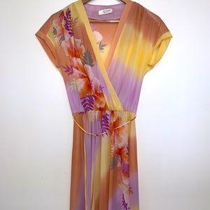 VINTAGE wrap style midi dress